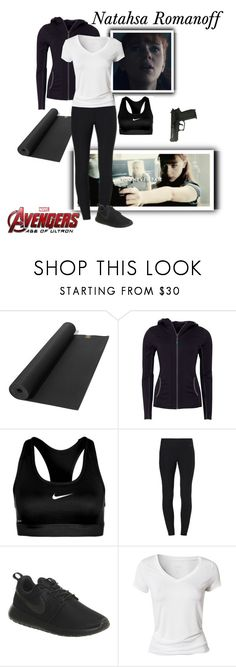 """""""Natasha Romanoff/ Black Widow - The Avengers : Age Of Ultron"""" by gone-girl ❤ liked on Polyvore featuring Victoria's Secret, Green Lamb, NIKE, Calvin Klein, Marvel, marvel, NatashaRomanoff, BlackWidow, mcu and AAOU"""