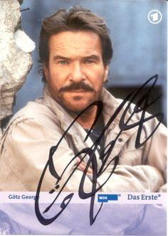 Autogramme deutsche Schauspieler, u.a. Götz George