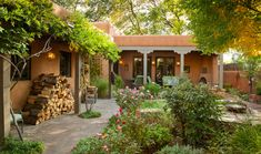 Lovely adobe and courtyard.