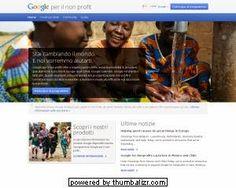 Google per il non profit arriva in Italia