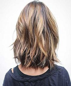 Thick short and bob hairstyles 2017 Layered and shiny hairs beautiful haircut for this type of hairs