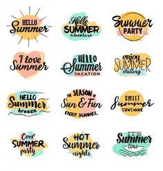 Handmade summer designs Free Vector