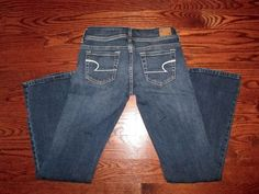 Womens RETIRED AMERICAN EAGLE Original Boot Stretch Dark Wash Denim Jeans Size 2 #AmericanEagleOutfitters #BootCut