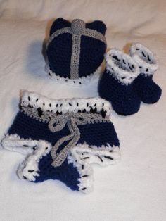 Little Prince Diaper Cover Crown Hat