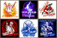 Check out 6 hip hop designs + 8 illustrations by Digital-Clipart on Creative Market