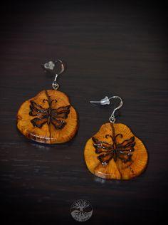 деревянные серьги. Дуб. украшения из дерева.  wood decorations. wooden ornaments.