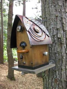 1000 images about birdhouses on pinterest bird houses for Easy birdhouse ideas