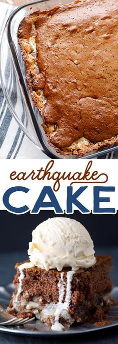This easy Earthquake Cake Recipe is loaded with sweet and delicious layers of German chocolate cake and coconut!