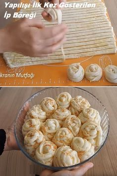 Spring Rolls Dessert Recipes Sarma ve dolma tarifi Pizza Recipes, Bread Recipes, Dessert Recipes, Cooking Recipes, Desserts, Pastry Display, Food Garnishes, Dessert Bread, Arabic Food