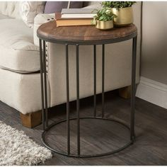 End Table. Would like two of these!   If you can't make this style see end table #2!   Also wood doesn't have to be this exact stain just not real light and similar to other pieces :)
