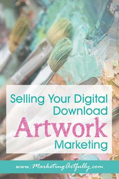 Tips and ideas for using social media, email and promotions to sell your printable art files. How to make a passive income selling your artwork online! Business Canvas, Starting An Etsy Business, Sites Like Etsy, Sell My Art, Creative Business, Business Tips, Online Business, Selling Art Online, Artwork Online