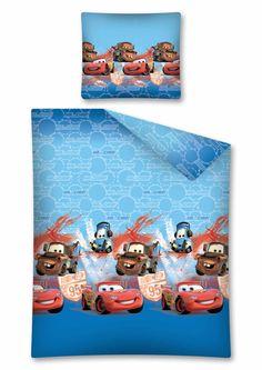 Pościel dla dziecka w kolorze niebieskim z mcqueenem