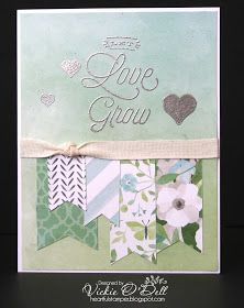 Welcome to our blog hop featuring the lovely Close To My Heart Stamp of the Month, Bloom and Grow . You may have just come from Mis...