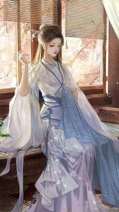 Pretty Anime Girl, Beautiful Anime Girl, Kawaii Anime Girl, Anime Art Girl, Chinese Drawings, Chinese Art, Anime Art Fantasy, Fantasy Girl, Anime Outfits