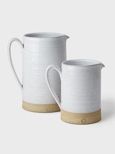 Silo Stoneware Pitcher by Farmhouse Pottery // DARA Artisans Pottery Mugs, Ceramic Pottery, Pottery Art, Ceramic Art, Earthenware, Stoneware, Farmhouse Pottery, Keramik Design, Ceramic Pitcher