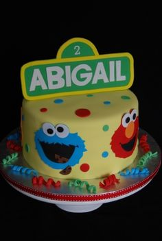 Sesame Street 2nd Birthday By Marniela on CakeCentral.com