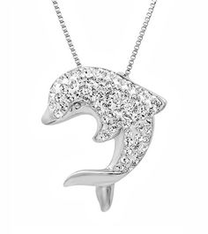 Sterling Silver Crystal Dolphin Pendant-Necklace made with Swarovski Elements 18in. Box Chain Amanda Rose Collection,http://www.amazon.com/dp/B00FAT52AO/ref=cm_sw_r_pi_dp_J0V0sb10E91005ZH