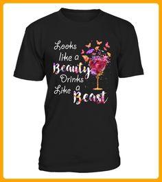Looks Like a Beauty Drinks Like a Beast - Shirts mit logo (*Partner-Link)