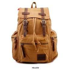 Military Canvas Travel Backpack - Assorted Colors