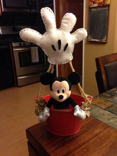 Mickey Mouse Glove Balloon Centerpiece by DNAverack on Etsy, $20.00