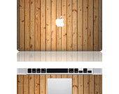 Wood Mac skin Macbook cover decal Mac Decal Macbook Decals Apple cover Decal for Macbook Pro / Macbook Air / iPad / iPad2 / ipad3/ laptop. $16.99, via Etsy.