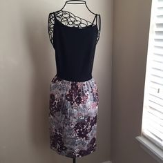 """loft dress Never worn, new with tags. Great condition. Black with beautiful floral pattern. Zip up in back. True to LOFT size 10. ❌no trades or PayPal❌ Quick shipping  Offers welcome through """"Make an Offer"""" feature.  Bundle discount with new bundle feature! LOFT Dresses"""