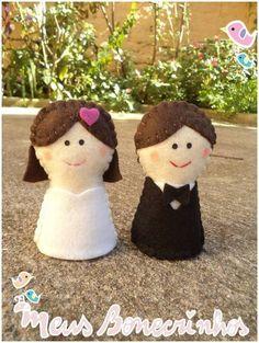 Topo de Bolo - Bonecrinhos Casamento | Meus Bonecrinhos | Elo7