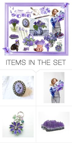 """Purple"" by riagr ❤ liked on Polyvore featuring art"
