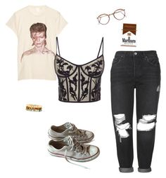 """""""Untitled #5"""" by tessa-krs on Polyvore featuring MadeWorn, Alexander McQueen, Topshop, Converse and Panacea"""