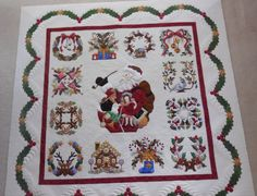 Baltimore Christmas Album Quilt.  This quilt (the piecing, the applique, the longarm quilting) is exquisite.  Follow the link to see close-ups.