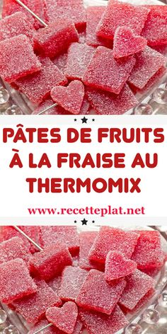 Strawberry fruit jellies with Thermomix Vegan Breakfast Recipes, Vegan Recipes Easy, Diabetic Recipes, Italian Recipes, Chef Recipes, Sausage Recipes, Drink Recipes, Vegan Thermomix, Thermomix Desserts