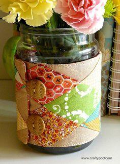 Petit tuto quand on s'ennuie pour faire des jolies cache pot ou vase !