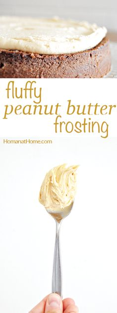 Light and fluffy peanut butter frosting is the perfect complement for cake, cookies, and brownies. Holds its shape, too! Light and fluffy peanut butter flavored buttercream frosting. Homemade Frosting, Frosting Recipes, Cupcake Recipes, Cupcake Cakes, Dessert Recipes, Cake Cookies, Buttercream Frosting, Cake Icing, Frosting For Brownies