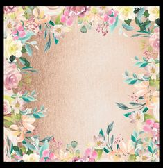 Gold and watercolor floral background Free Digital Scrapbooking, Floral Watercolor, Quilts, Blanket, Gold, Quilt Sets, Blankets, Log Cabin Quilts, Cover