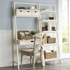 As soon as I move, this is mine! Morgan Desk - Antique White - Pier 1 Imports
