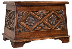 19th-C.   English Carved Box on OneKingsLane.com