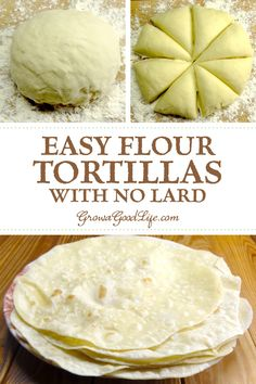 Homemade Flour Tortilla,Make these easy flour tortillas from scratch with olive oil or avocado oil instead of lard or shortening. Fill with all the Tex-Mex flavors you love! Recipes With Flour Tortillas, Homemade Flour Tortillas, Flour Tortilla Recipe Without Lard, How To Make Tortillas, Soft Tortilla Recipe, Corn Tortilla Recipes, Healthy Tortilla, Tortilla Shells, Gastronomia