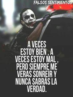 O Joker, Joker Heath, Joker Frases, Joker Quotes, Cute Spanish Quotes, Harey Quinn, The Ugly Truth, Sad Love, Life Lessons