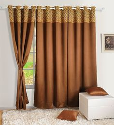 Yuga Home Décor Faux Silk Solid Blackout With Eyelets Long Door Curtain 48 x 108 Inches- 1Pc ** Be sure to check out this awesome product. (This is an affiliate link) #WindowTreatments