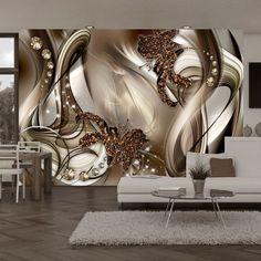 Photo Wallpaper Non-woven Art Ornament Brown Abstraction 3d Wallpaper For Walls, Wallpaper Decor, Photo Wallpaper, Diamond Wallpaper, Wallpaper Wallpapers, 3d Wall Decor, Room Decor, Ornament Tapete, Wall Mural Decals