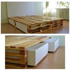 Resultado de imagen para cama de casal de pallet