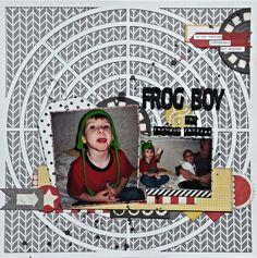 Frog boy and the tornado shelter - Scrapbook.com