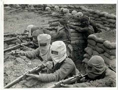 The First World War was the first war in which manufactured poison gas was used as a weapon on a large scale.