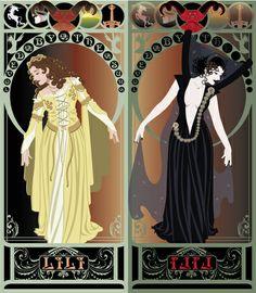 Legend Nouveau - Mirrored Art Print