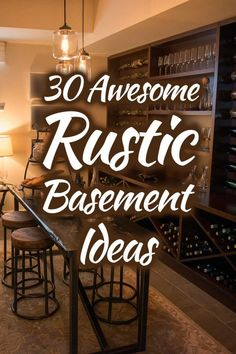 30 Awesome Rustic Basement Ideas (Photo List Inspiration). Article by HomeDecorBliss.com #HDB #HomeDecorBliss #homedecor #homedecorideas