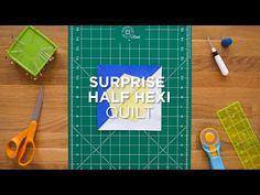 "Click here for the full tutorial: http://bit.ly/SurpriseHalfHexi_QSYT A quick way to use up those 10"" squares all while finding a use for that fun little half hexi ruler. We love finding fast and easy"