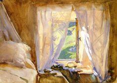 Bedroom Window - John Singer Sargent 1909-1911  Impressionism  Watercolour