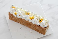 Passionfruit, Coconut and Ginger Mille Feuille | nathalie eng | patisserie - food photography
