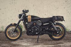 Street to Dirt: a Harley-Davidson Street 750 scrambler by Analog Motorcycles.