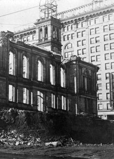 Another view of the demolition of the old Wilmington Courthouse in 1919.